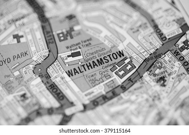 Walthamstow. London, UK map.