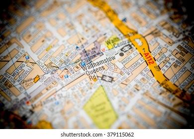 Walthamstow Queens. London, UK map.