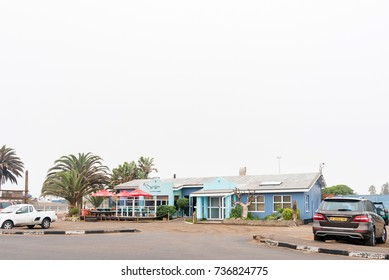 WALVIS BAY, NAMIBIA - JULY 1, 2017: The Dolphins Coffee Shoppe, a restaurant in Walvis Bay on the Atlantic Coast of Namibia