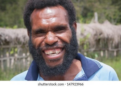 WAMENA, NEW GUINEA, INDONESIA - JANUARY 08: Unknown Papuan in everyday life in Wamena, New Guinea Island, Indonesia on January 08, 2009
