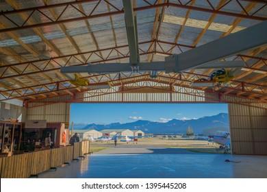 Wanaka, New Zealand, Feb 9th, 2019: Trail flight at Wanaka, Flight Training, airport, New Zealand