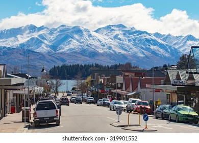 WANAKA TOWN NEW ZEALAND-SEPTEMBER 5:wanaka is a ski and summer resort town ,traveling destination in the Otago region South Island of New Zealand on september 5 , 2015 in wanaka town New Zealand