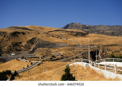 Wandering Health Trail among the mountains of Ashgabat, Turkmenistan