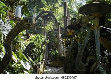 wandering through Las Pozas in Xilitla, Mexico