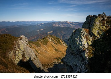 Wanderlust background. Carpathian mountains picturesque view.