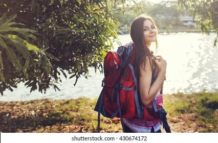 Wanderlust Traveler Lifestyle Nature Trip Concept
