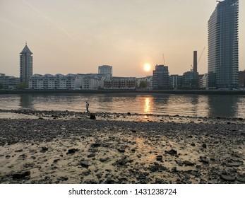 Wandsworth London, South Bank Thame River