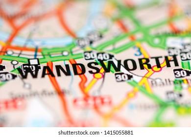 Wandsworth. United Kingdom on a geography map