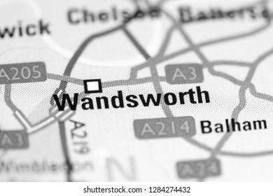 Wandsworth. United Kingdom on a map