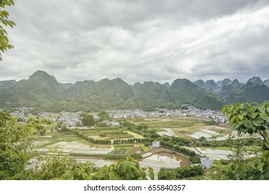 Wanfenglin rural area, karst topography, near Qianxinan city, Guizhou, China