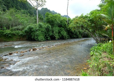 Wang Sai Tong river in Satun. Satun is southern province of Thailand popular with halal tourism.