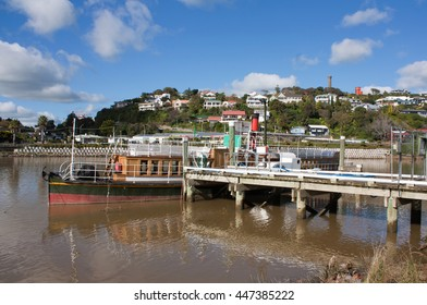 Wanganui, New Zealand - May 16th 2014:Waimarie steam boat next to dock.