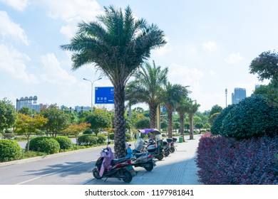 Wangcheng. Changsha. China. 19 September 2018. Road in the suburbs of Changsha