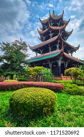 Wangjiang Pavilion (Wangjiang Tower) in Wangjianglou Park. Chengdu, Sichuan, China