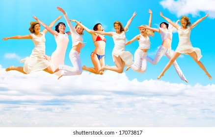 """wanna jump forever on! - see more of  """"Groups  of people"""" series in portfolio"""