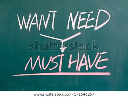 want need must have conceptional drawing stock photo (edit now