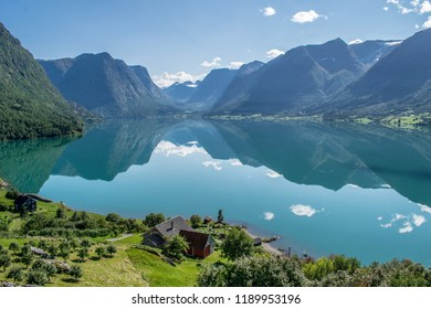I want to wake up here everyday . Photo from Flo , towards the Oppstryn lake , in Norway .