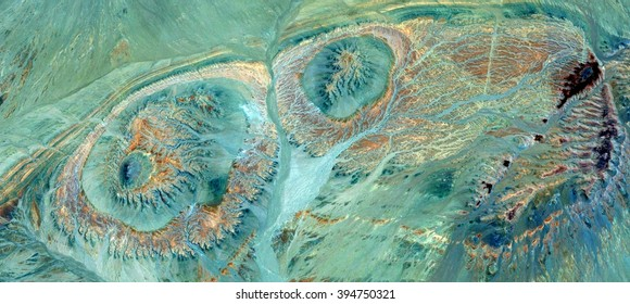 I want you green green, I love Emerald Green, abstract photography of the deserts of Africa from the air, bird's eye view, abstract expressionism, contemporary art, optical illusions,