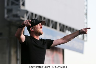 WANTAGH, NY - JUL 13: Cole Swindell performs in concert at Northwell Health at Jones Beach Theater on July 13, 2019 in Wantagh, New York.