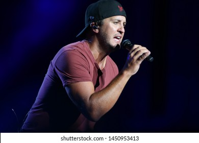 WANTAGH, NY - JUL 13: Luke Bryan performs in concert at Northwell Health at Jones Beach Theater on July 13, 2019 in Wantagh, New York.