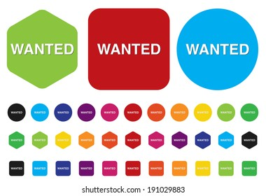 wanted button