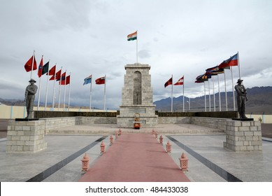 War memorial at Hall of Fame in Leh, India.