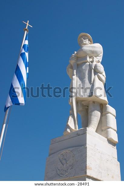 War memorial in Iroon (Heroes) Square, Rethymno, Crete