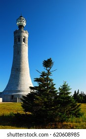 The War Memorial Tower sits on top of Mount Greylock, the tallest mountain in Massachusetts