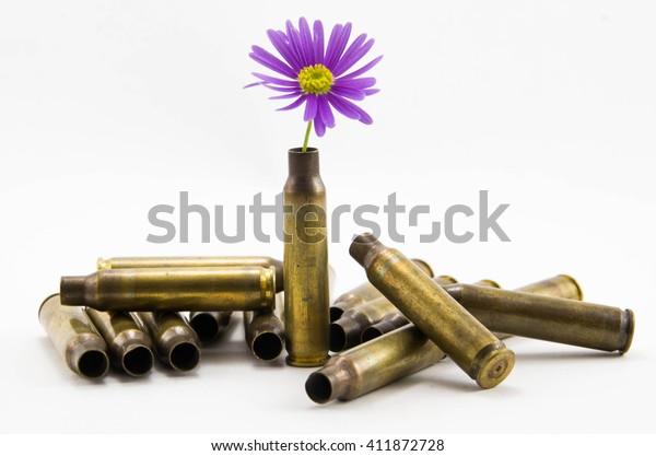 戦争と平和、平和に満ちた弾丸、平和に満ちた弾丸、花と弾丸、銃弾
