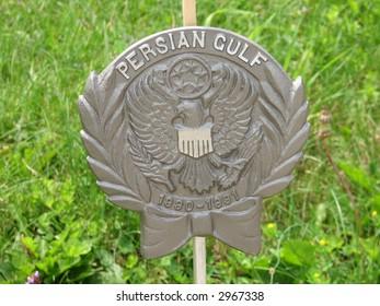 War Service Cemetery Flag Marker -- Persian Gulf War