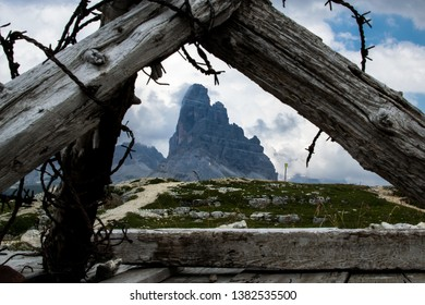 War trenches of the First World War on Mount Piana in Veneto, Italy