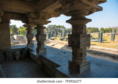 Warangal /India 28 December 2017 Swayambhudevi Alayam is a temple that is dedicated to Mother Earth and is located at the centre of the fort Warangal  India