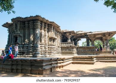 Warangal /India 28 December 2017 The Thousand Pillar Temple or Rudreshwara Swamy Temple located in the town of Hanamakonda  It is dedicated to Shiva Vishnu and Surya at  Warangal Telangana   Indian