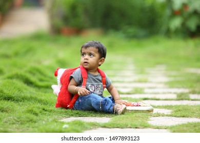 warangal, telangana / india -June 05 2019: Images for little girl outdoor photography ideas