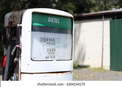 Warburton, Victoria AUSTRALIA - November 11, 2012: Diesel Petrol/Gas Pump