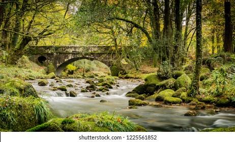 Ward Bridge across the River Walkham, Dartmoor National Park, Devon