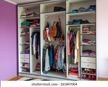 wardrobe closet clothes shoes bag in one place