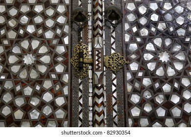 Wardrobe detail with mother of pearl embossment in Topkapi Palace , Istanbul