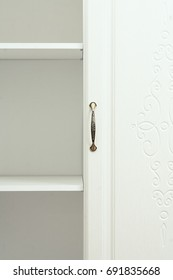 wardrobe in the expanded form, with open doors