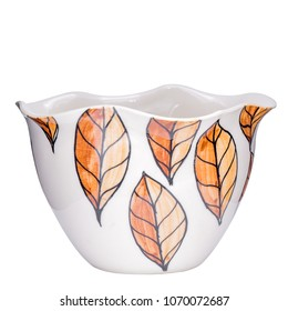ware ceramic Leaves Autumn pattern Graphics Leaves brown