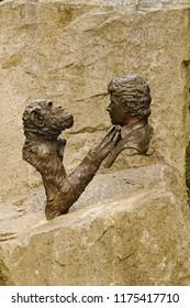 Wareham, Dorset, UK -  2nd September 2018. The Jim Cronin Memorial; who passed away on March 17, 2007. Jim founded the Monkey World – Ape Rescue Centre (Wareham, UK) in 1987.