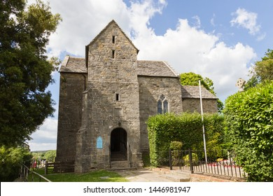 Wareham, Dorset / UK - June 18th 2014: St. Martins on the Walls church, is Grade I listed, the most complete example of an Anglo-Saxon church in Dorset and contains an effigy of Lawrence of Arabia.