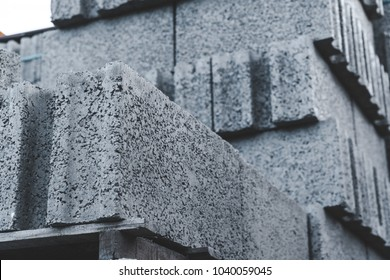 Warehouse cinder block and products from cement slurry on the base