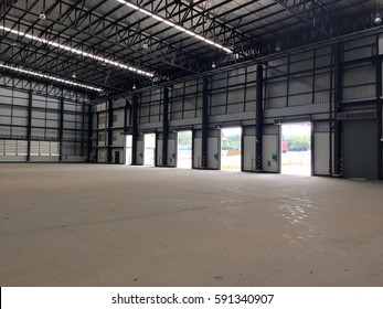 Warehouse doors for loading and unloading of cargo in freight.
