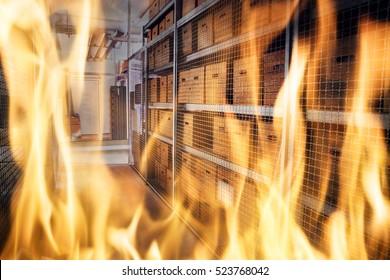 Warehouse Fire Inside