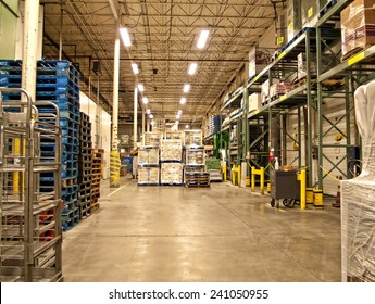 warehouse of a grocery store