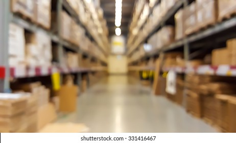 Warehouse inventory in defocus blur background style.