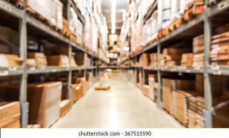 Warehouse inventory in defocus blur background style.