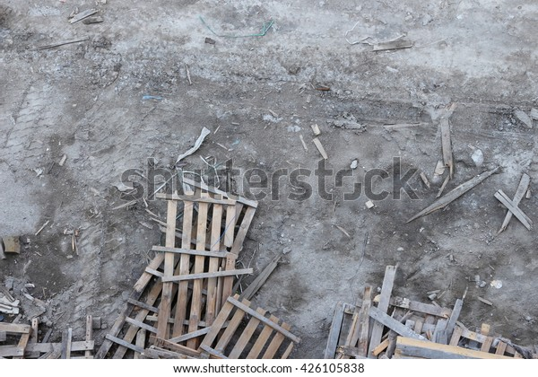 Warehouse Old Destroyed Wooden Pallets Stock Photo Edit Now 426105838