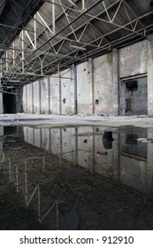 warehouse with reflections